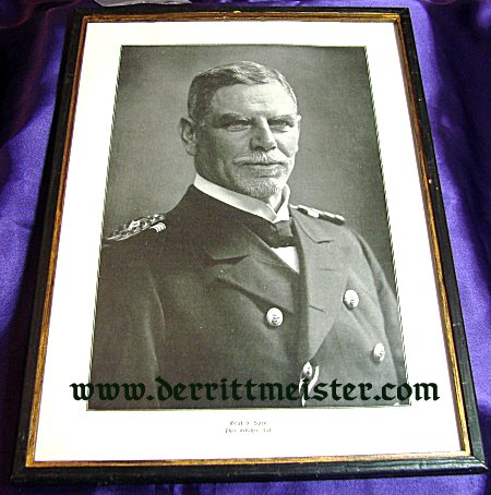 FRAMED LITHOGRAPH - ADMIRAL GRAF SPEE - Imperial German Military Antiques Sale