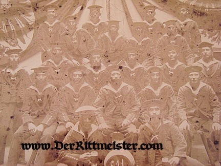 FRAMED PHOTOGRAPH - SAILORS - KOMMANDO IN ADMIRALSTAB - BERLIN 1907 - Imperial German Military Antiques Sale
