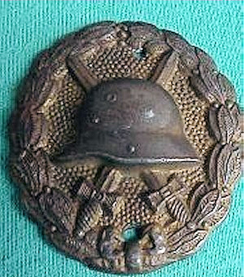 GERMANY - ARMY WOUND BADGE - GOLD - Imperial German Military Antiques Sale