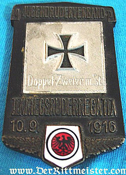 GERMANY - PLAQUETTE - PARTICIPANT'S OF A YOUNG PERSON'S REGATTA - Imperial German Military Antiques Sale