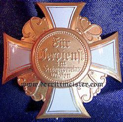 PRUSSIA - STECKKREUZ LAND WAR VETERAN'S ASSOCIATION HONOR CROSS 2nd CLASS - Imperial German Military Antiques Sale