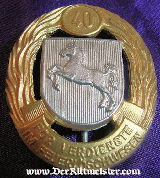HANNOVER/BRAUNSCHWEIG - 40-YEARS LONG SERVICE AWARD - FIREMAN - Imperial German Military Antiques Sale