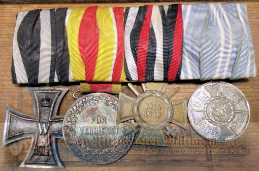 BADEN / BAVARIA / PRUSSIA - MEDAL BAR - FOUR PLACE - Imperial German Military Antiques Sale