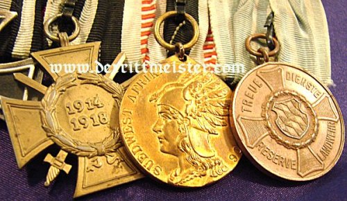 BAVARIA - MEDAL BAR - FIVE PLACE - Imperial German Military Antiques Sale