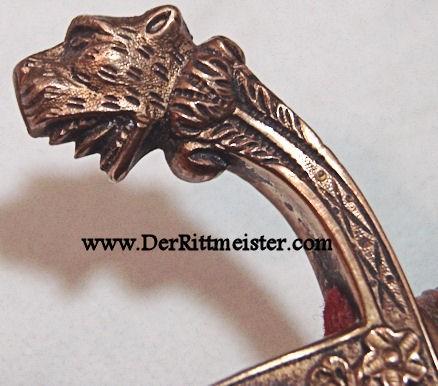 ARTILLERY OFFICER LIONSHEAD SWORD - PORTÉPÉE - Imperial German Military Antiques Sale