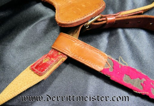 SWORD BELT WITH SWORD HANGER ATTACHMENT AND SWORD HANGER - Imperial German Military Antiques Sale
