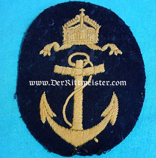 RATING PATCH FOR NAVY OBER-BOOTSMANNMATT'S WINTER TUNIC - Imperial German Military Antiques Sale