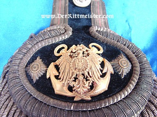 PRUSSIA - EPAULETTE - KAPITÄNLEUTNANT IN CHARGE OF STORES ABOARD A NAVAL VESSEL - Imperial German Military Antiques Sale