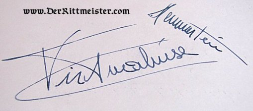 AUTOGRAPHED PARTY INVITATION CELEBRATING QUEEN ELIZABETH II OF GREAT BRITAIN'S BIRTHDAY - AUTOGRAPHED BY PRINZESSIN/DUCHESS VIKTORIA LUISE (PRUSSIA AND BRAUNSCHWEIG) AND LUDWIG FREIHERR von HAMMERSTEIN-EQUORD - Imperial German Military Antiques Sale