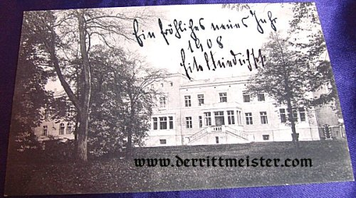AUTOGRAPHED POSTCARD - PRINZ EITEL FRIEDRICH von PREUßEN - Imperial German Military Antiques Sale