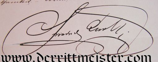 AUTOGRAPHED LETTER - PRINZ FRIEDRICH CARL von PREUßEN - Imperial German Military Antiques Sale