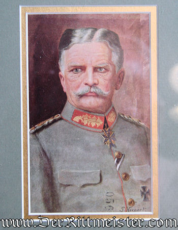 FRAMED DOCUMENT & POSTCARD SIGNED BY GENERALFELDMARSCHALL AUGUST von MACKENSEN - Imperial German Military Antiques Sale