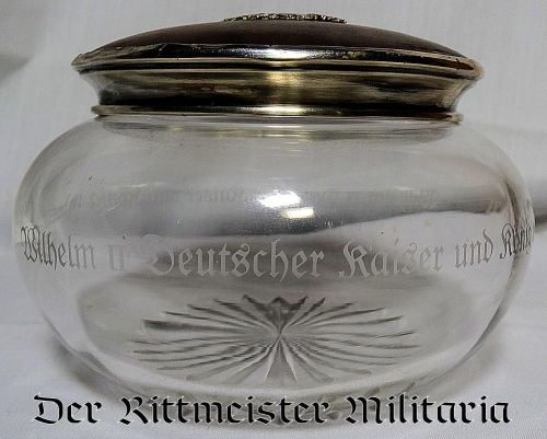 "J. GODET & SÖHNE ""BON BON"" JAR GIVEN BY KAISER WILHELM II AS ROYAL GIFT - Imperial German Military Antiques Sale"