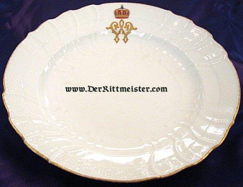 SOUP BOWL - PERSONAL TABLEWARE - KRONPRINZ WILHELM - 1905 - Imperial German Military Antiques Sale