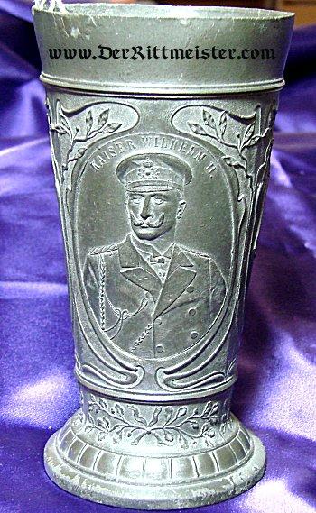 GOBLET HONORING KAISER WILHELM II AND SLOOP - S.M.Y. IDUNA - Imperial German Military Antiques Sale