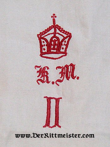 PILLOWCASES - KAISER WILHELM II's ROYAL YACHT S.M.Y. HOHENZOLLERN - Imperial German Military Antiques Sale
