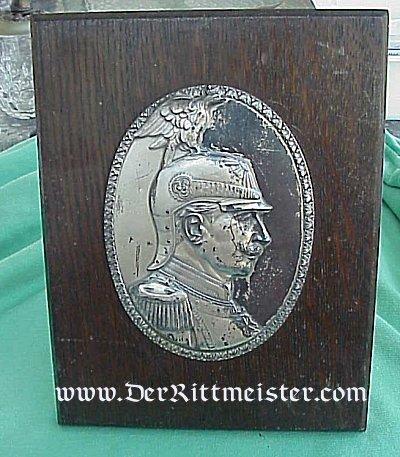 KAISER WILHELM II PLAQUE - Imperial German Military Antiques Sale