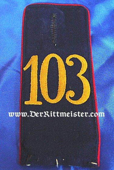 SAXONY - SHOULDER STRAPS - ENLISTED MAN - INFANTERIE-REGIMENT Nr 103 - Imperial German Military Antiques Sale