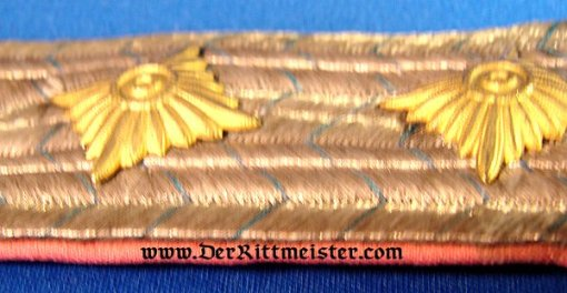 BAVARIA - SHOULDER BOARDS - HAUPTMANN - INFANTERIE-REGIMENT - Imperial German Military Antiques Sale