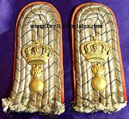 BADEN - SHOULDER BOARDS - LEUTNANT - FELDARTILLERIE-REGIMENT Nr 14 - Imperial German Military Antiques Sale