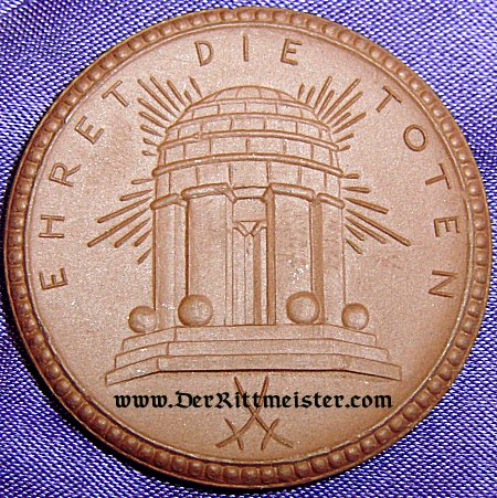 TABLE MEDAL - SAXONY - RESERVE-INFANETRIE-REGIMENT Nr 104 - MEISSEN PORCELAIN - Imperial German Military Antiques Sale