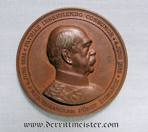 TABLE MEDAL - OTTO VON BISMARCK - Imperial German Military Antiques Sale