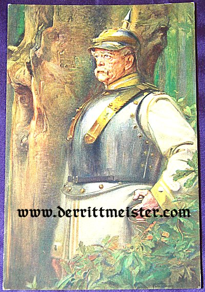 OVERSIZED COLOR POSTCARD - OTTO von BISMARCK - KÜRAßIER UNIFORM - Imperial German Military Antiques Sale