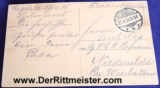 POSTCARD - COMMEMORATES BAVARIA'S KRONPRINZ RUPPRECHT - VICTORY - METZ BATTLE - Imperial German Military Antiques Sale