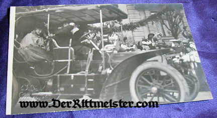 POSTCARD - GERMAN ROYAL - AUTOMOBILE - Imperial German Military Antiques Sale