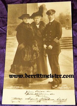 POSTCARD - KAISERIN AUGUSTA VIKTORIA - SON PRINZ ADALBERT - WIFE - Imperial German Military Antiques Sale