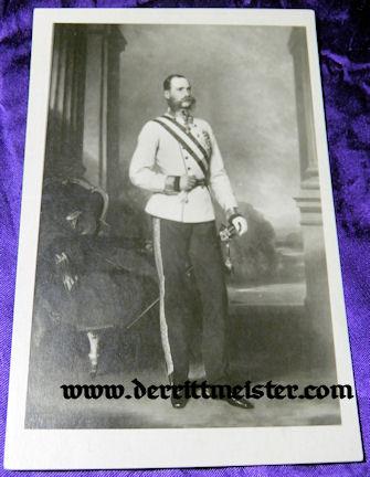 POSTCARD - KAISER FRANZ JOSEF - AUSTRIA - Imperial German Military Antiques Sale