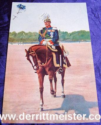 COLOR POSTCARD - KÖNIG FRIEDRICH AUGUST III - SAXONY - Imperial German Military Antiques Sale