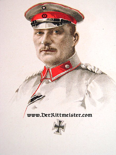 COLORIZED POSTCARD - GENERALFELDMARSCHALL HERZOG ALBRECHT von WÜRTTEMBERG - Imperial German Military Antiques Sale