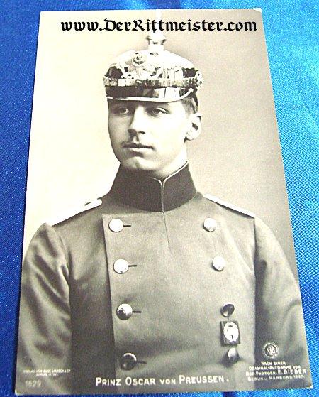 GUSTAV LIERSCH POSTCARD Nr 1629 - PRINZ OSKAR - PRUSSIA - Imperial German Military Antiques Sale