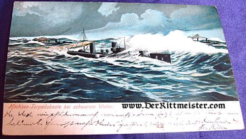 TORPEDOBOOT FLOTILLA - BAD WEATHER - Imperial German Military Antiques Sale