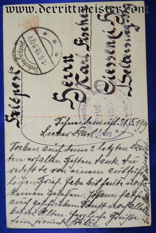 SANKE CARD Nr 530 - LEUTNANT JOACHIM von BERTRAB - Imperial German Military Antiques Sale