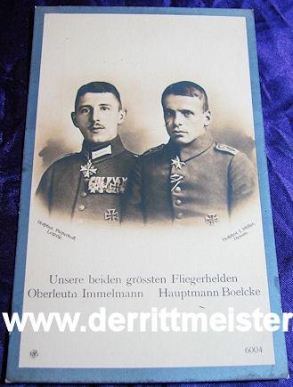 NPG POSTCARD Nr 6004 - PLM WINNER OSWALD BOELCKE - MAX IMMELMANN - Imperial German Military Antiques Sale
