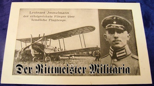 POSTCARD - PLM WINNER LEUTNANT MAX IMMELMANN - Imperial German Military Antiques Sale