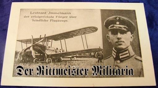 POSTCARD - PLM WINNER LEUTNANT MAX IMMELMANN - Imperial German Military Antiques Sale