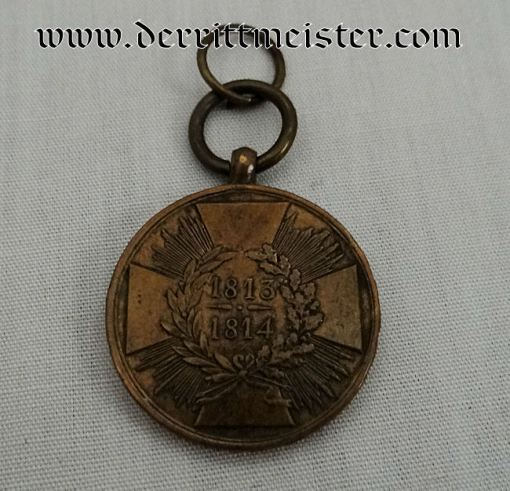 1813-1814 NAPOLEONIC WAR SERVICE MEDAL - Imperial German Military Antiques Sale