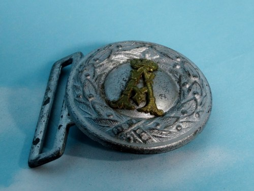 SAXONY - BELT BUCKLE - OFFICER - Imperial German Military Antiques Sale