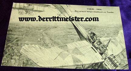 POSTCARD - FRENCH AIRPLANE - TAUBE - Imperial German Military Antiques Sale