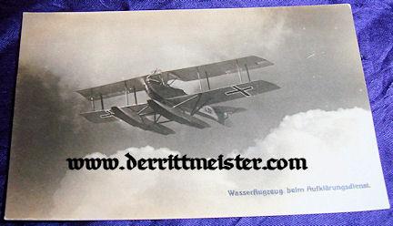 POSTCARD - SEAPLANE - Imperial German Military Antiques Sale