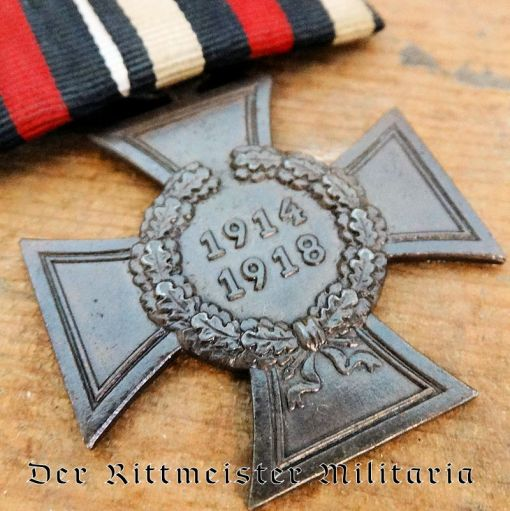 MEDAL BAR - ONE PLACE - HINDENBURG CROSS FOR NON COMBATANTS - Imperial German Military Antiques Sale
