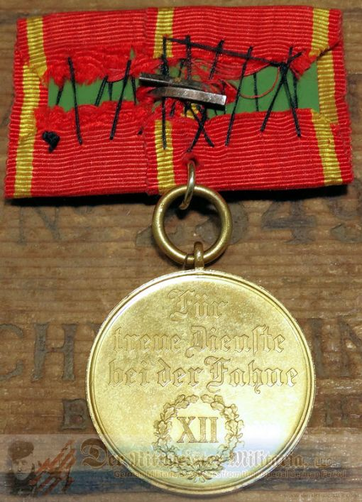BADEN - MEDAL BAR - ONE PLACE - TWELVE-YEAR LONG-SERVICE MEDAL BAR - Imperial German Military Antiques Sale