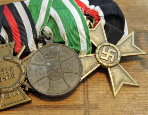 SAXONY - MEDAL BAR - FOUR PLACE - Imperial German Military Antiques Sale