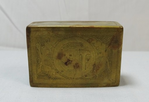 TRENCH ART MATCH SAFE - Imperial German Military Antiques Sale