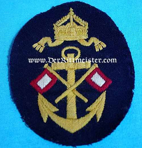 GERMANY - RATING PATCH - NAVY OBER-SIGNALMAAT'S WINTER TUNIC - Imperial German Military Antiques Sale