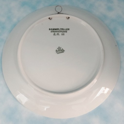 GERMANY - PLATE - ZEPPELIN ZR III (LATER U.S.S. LOS ANGELES) PRODUCED BY NOTED GERMAN PORCELAIN FIRM ROSENTHAL - Imperial German Military Antiques Sale