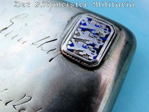 GERMANY COLONIAL - CIGARETTE CASE - SILVER - CHINA SEA-SOLDIER'S - Imperial German Military Antiques Sale